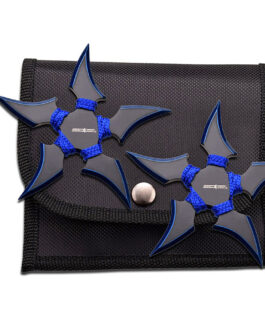 2 PIECE 5 OINT BLUE THROWING STARS