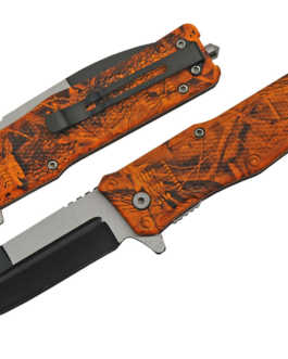 5″ ORANGE CAMO FOLDER – SPRING ASSIST